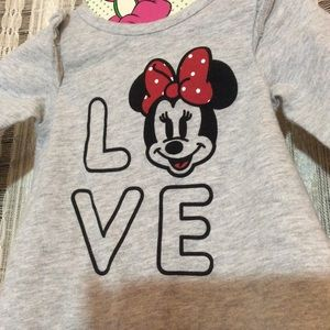 Disney Shirts & Tops - Disney Baby Jumping Beans SOFT Minnie Mouse Top